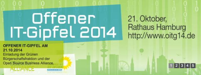 Offener IT-Gipfel am 21. Oktober in Hamburg