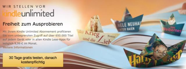 Amazon stellt Kindle Unlimited für Deutschland vor