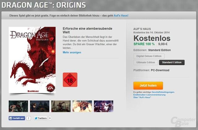 "Dragon Age: Origins geht ""Auf's Haus"""