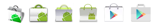 Evolution des Play-Store-Icons