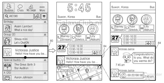 Samsung Iconic UX Patent