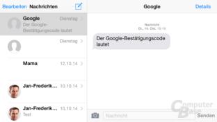 iOS 8 – Nachrichten