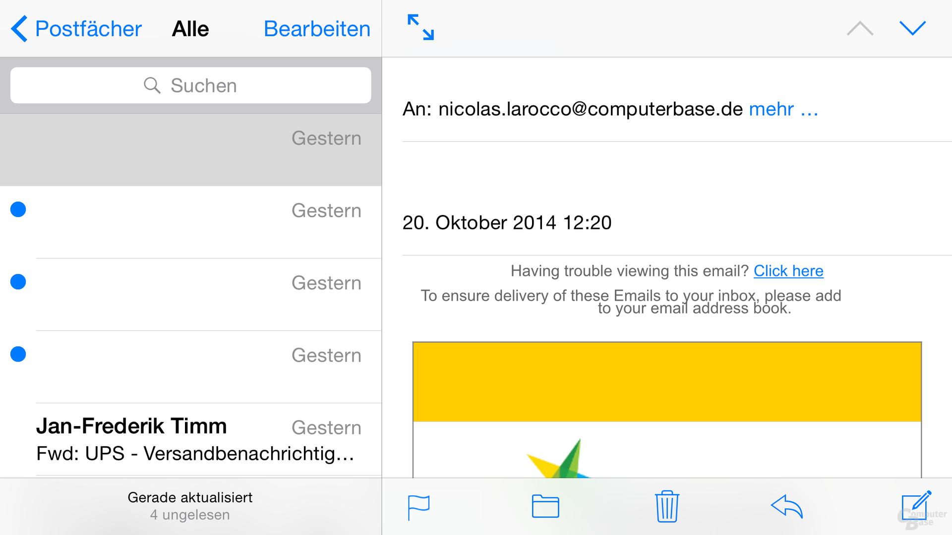 iOS 8 – Mail