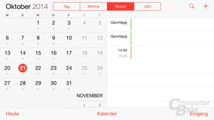 iOS 8 – Kalender