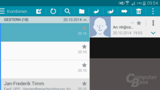 TouchWiz – E-Mail