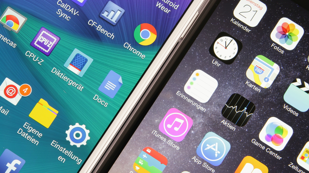 Große Smartphones: Apple iPhone 6 Plus gegen Samsung Galaxy Note 4 im Test