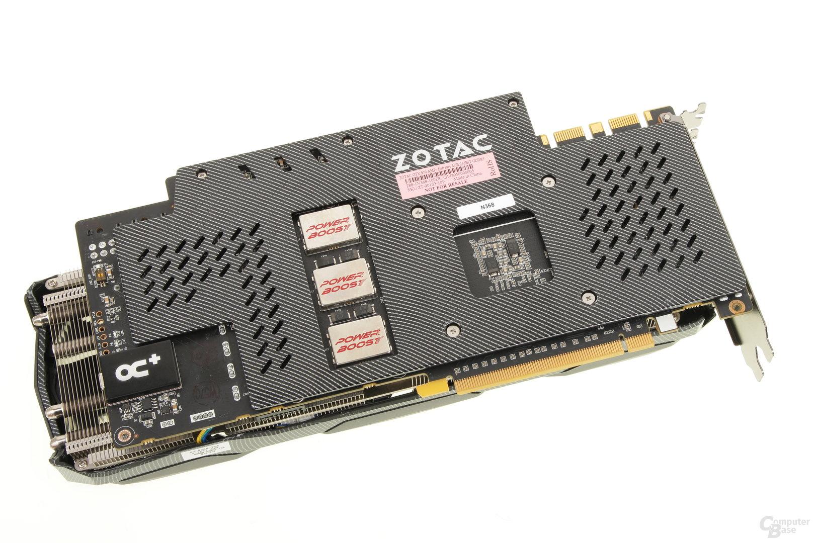 Zotac GeForce GTX 970 Extreme – Rückseite
