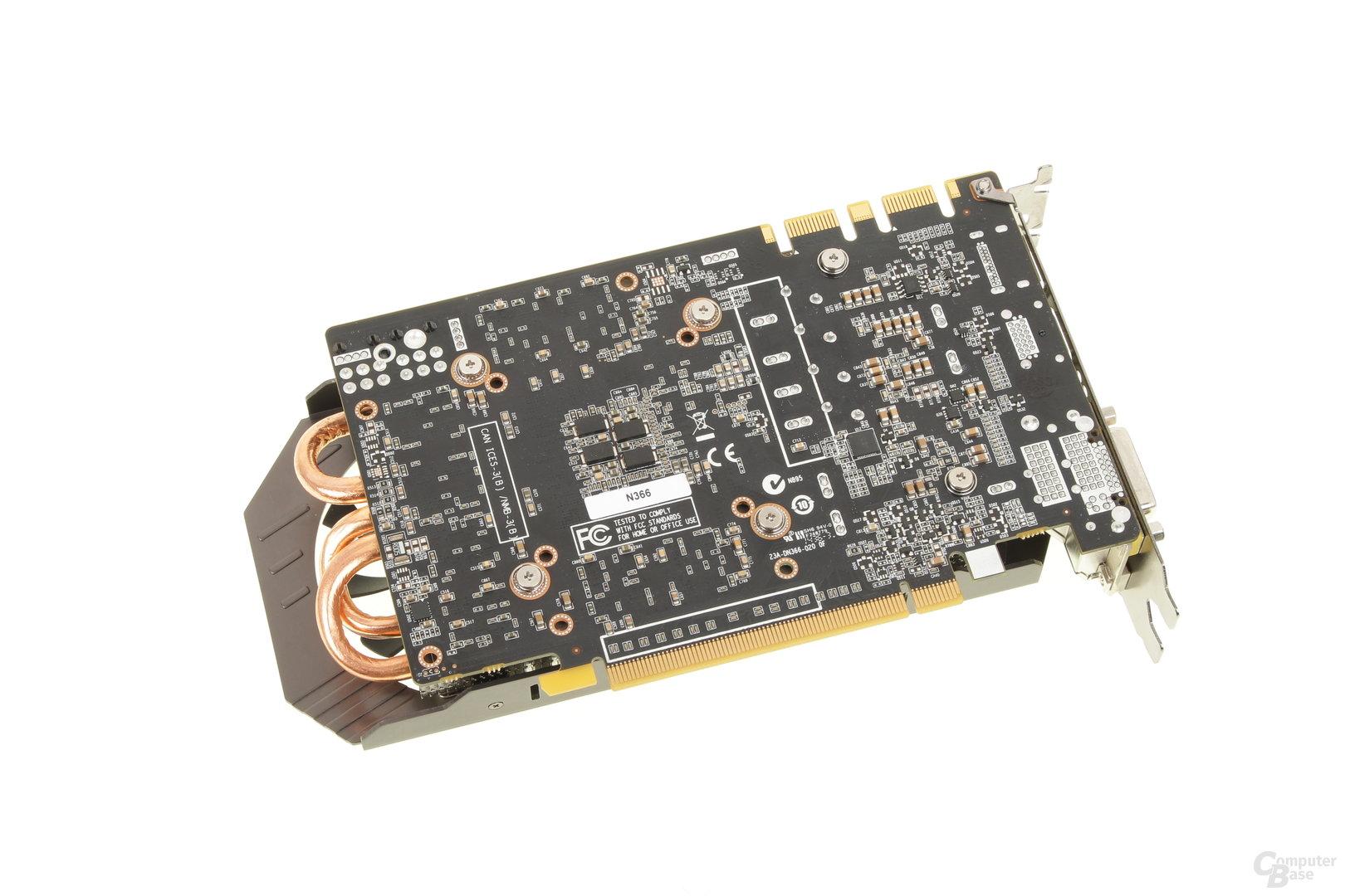 Zotac GeForce GTX 970 – Rückseite