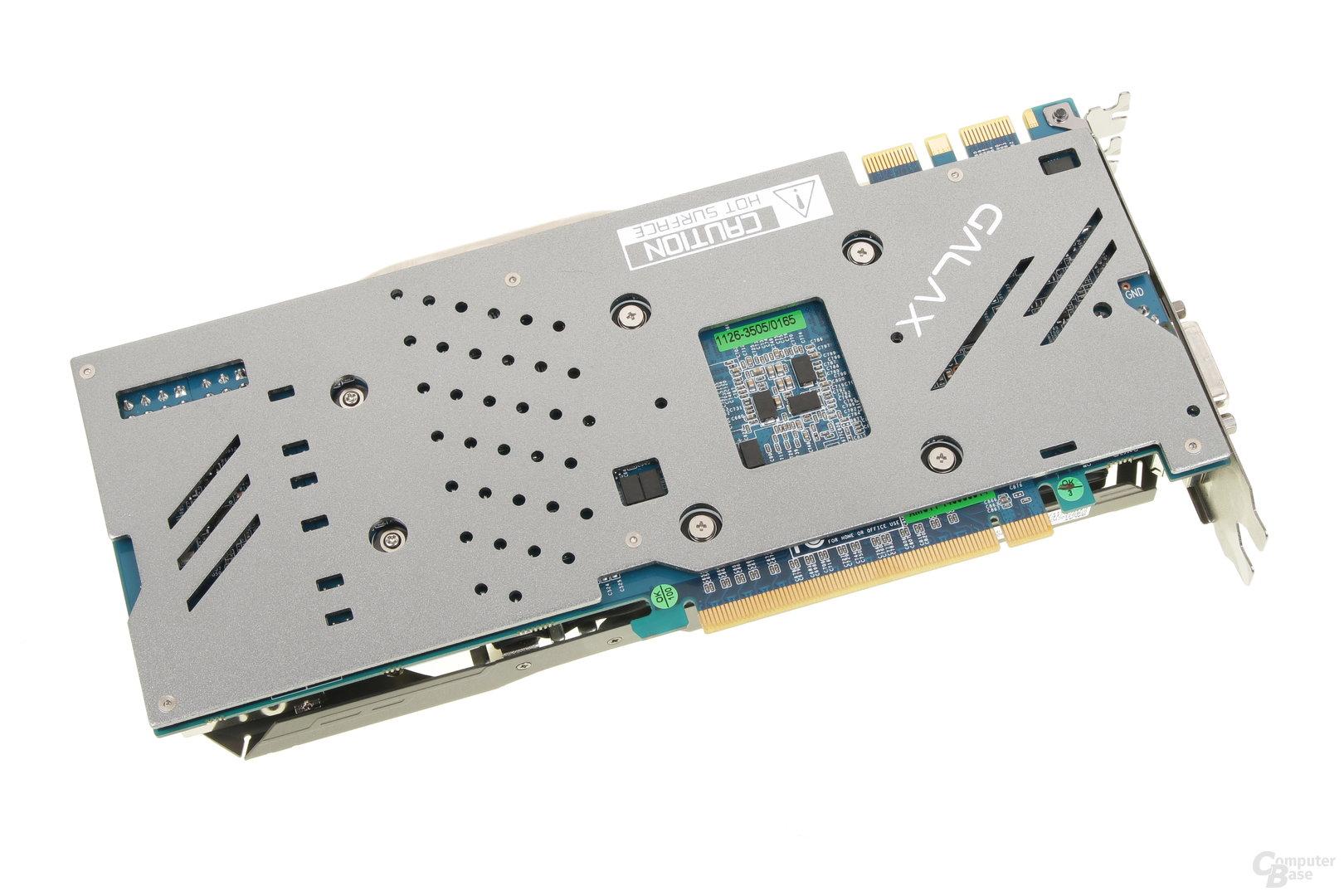 Galax GeForce GTX 970 OC EX – Rückseite