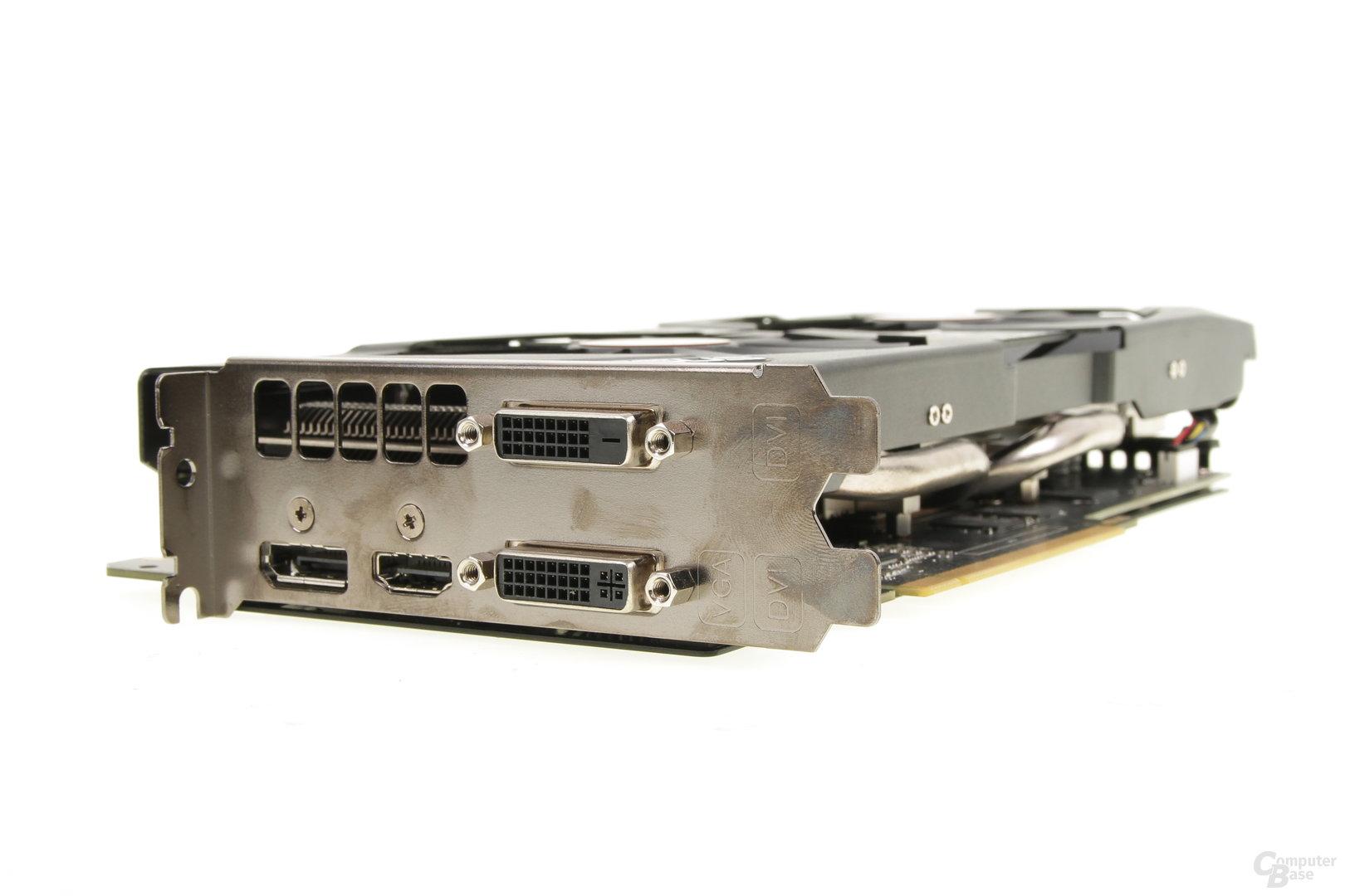 Asus GeForce GTX 970 Strix – Anschlüsse