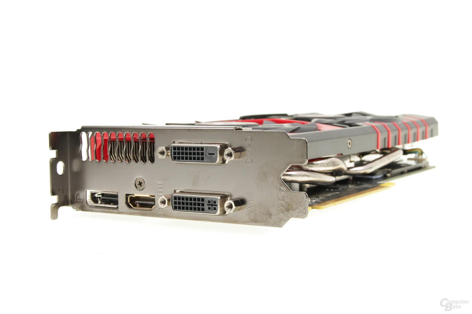 MSI GeForce GTX 970 Gaming 4G – Anschlüsse