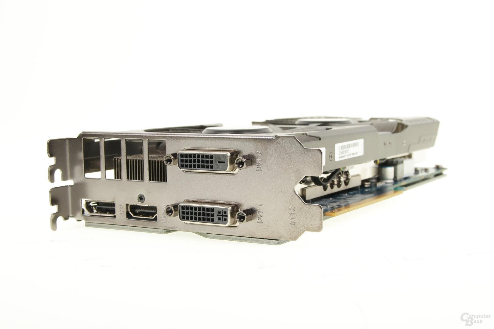 Galax GeForce GTX 970 OC EX – Anschlüsse