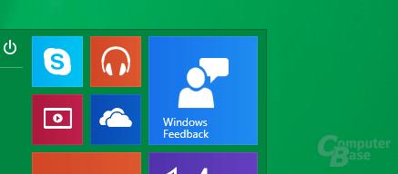 Microsoft bittet im neuen Startmenü um Feedback