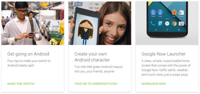 Google bewirbt einen neuen Google Now Launcher