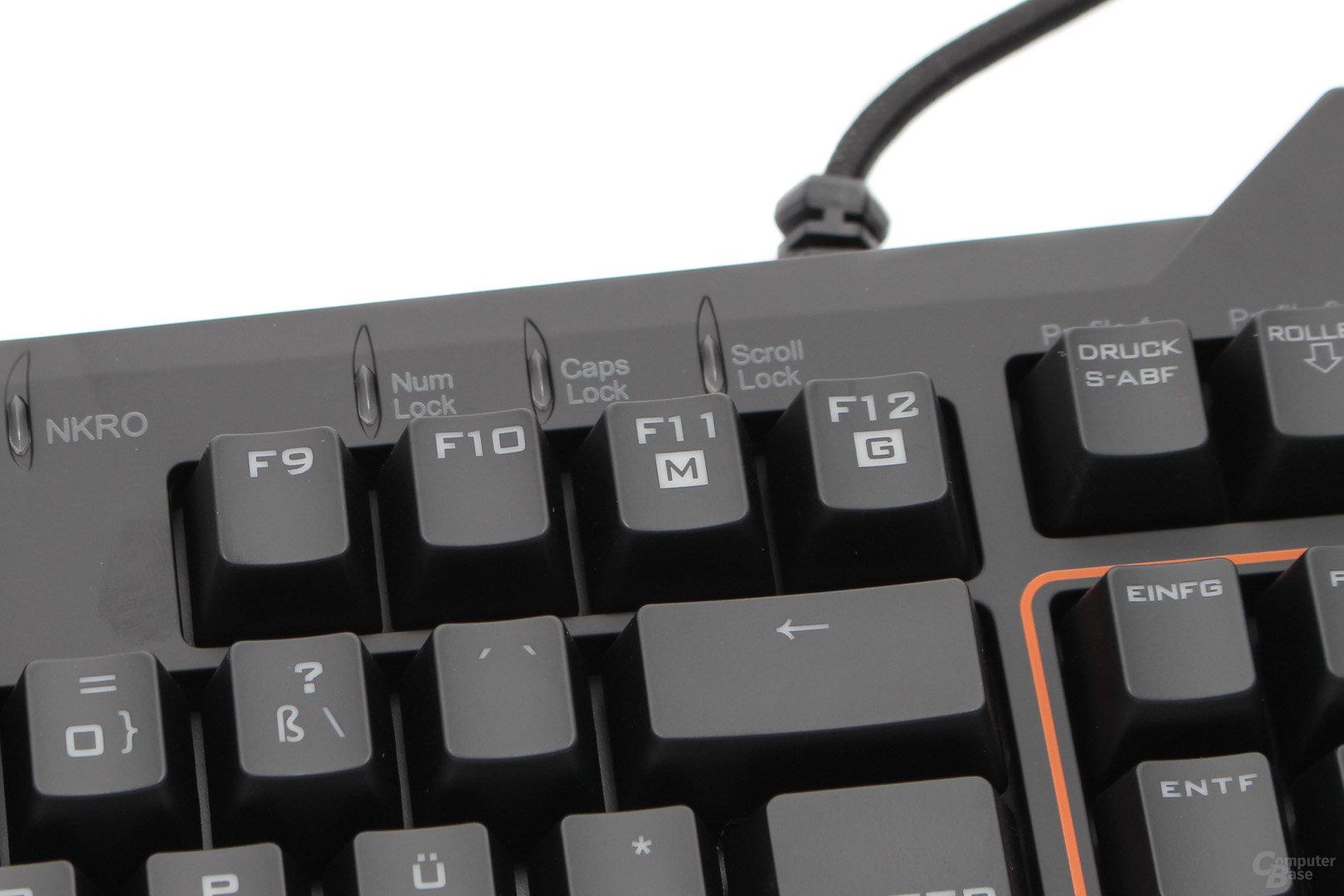 """Makro-Umschalter für """"F1"""" bis """"F8"""" und """"Gaming""""-Modus"""