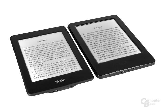 Größenvergleich Kindle Paperwhite vs. Kindle
