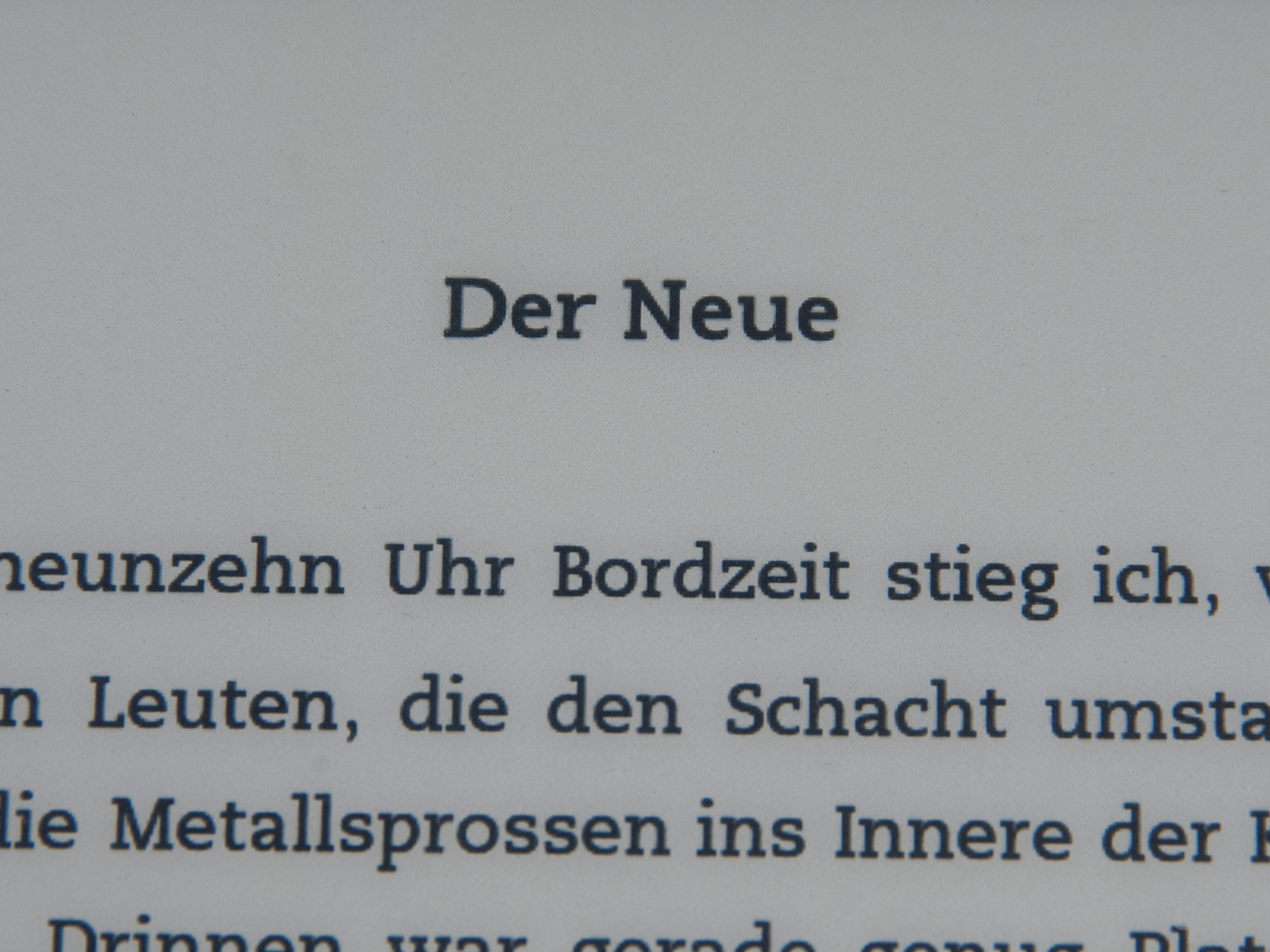 Textdarstellung Kindle