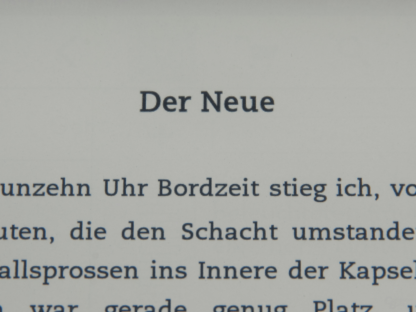 Textdarstellung Kindle Paperwhite