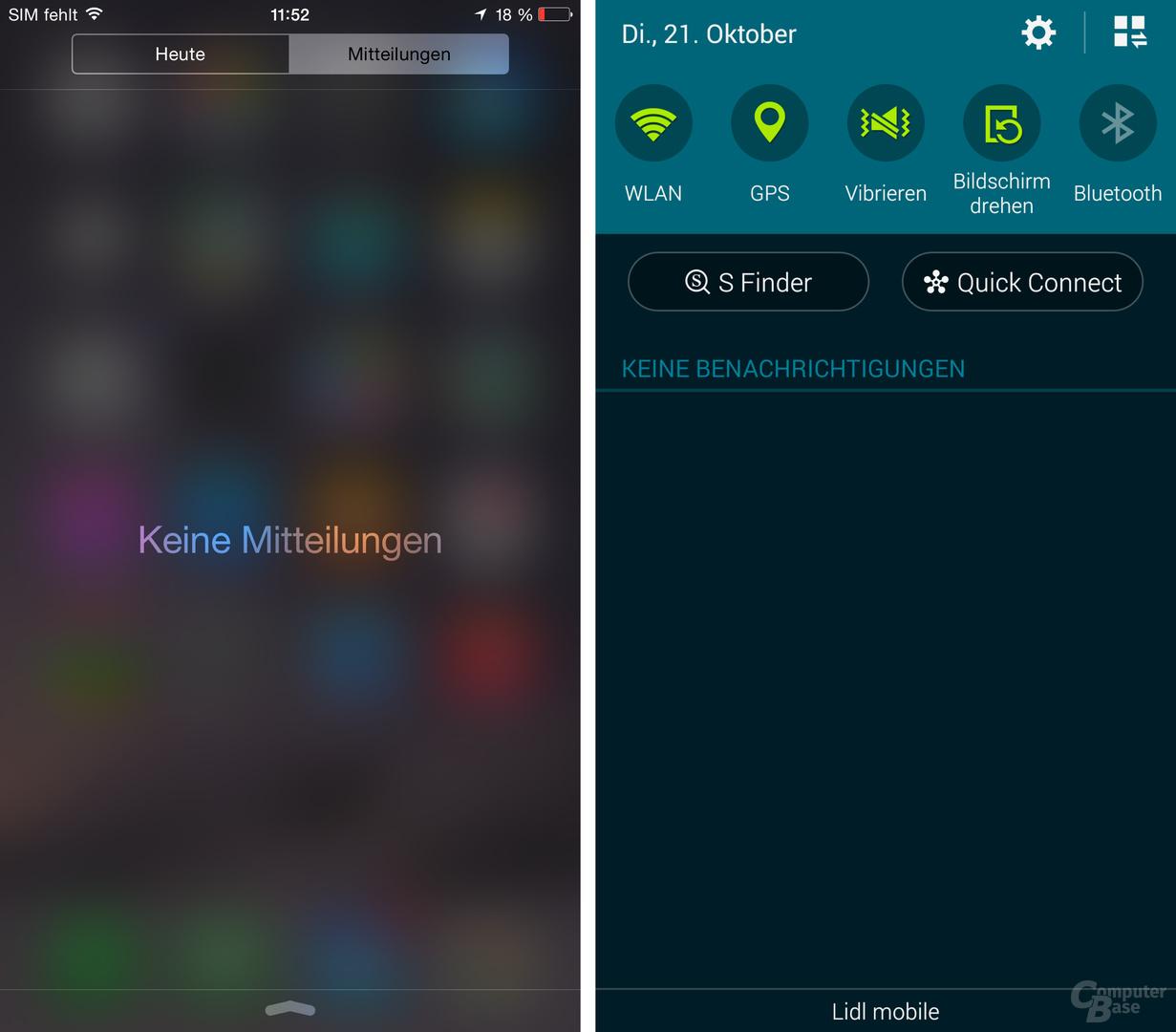 iOS 8 / TouchWiz – Benachrichtigungen
