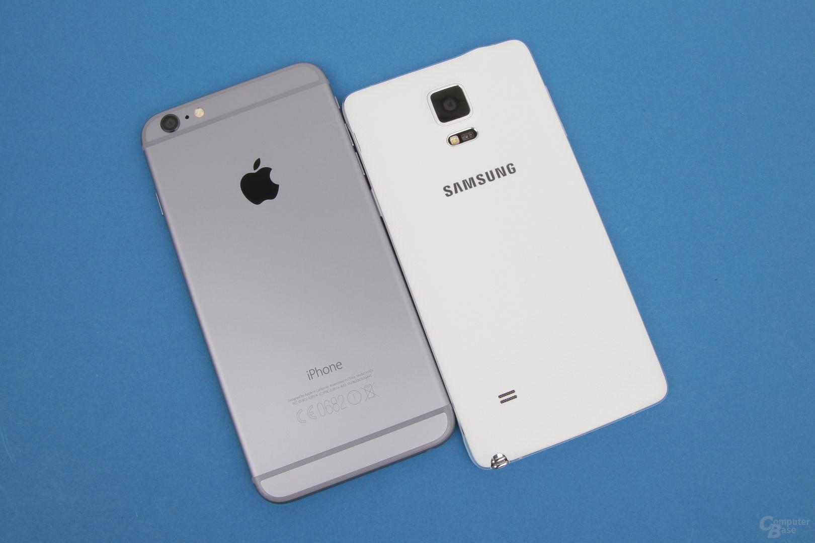 Apple iPhone 6 Plus gegen Samsung Galaxy Note 4: Beinhartes Duell ohne klaren Sieger