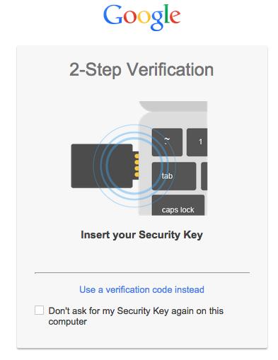 Authentifizierung per USB-Token bei Google