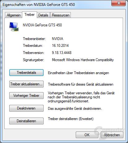 GeForce 344.48: Winows-Treiberdatierung