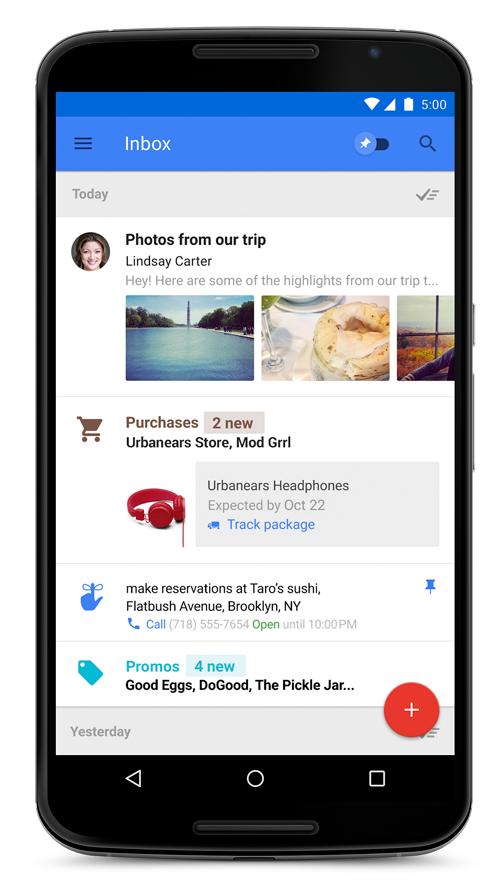 Google Inbox auf Nexus 6