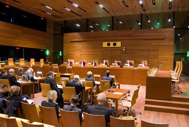 Anhörung im Sitzungssaal EuGH