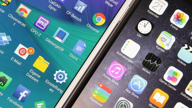Rückblick: Das Thema der Woche: Note 4 gegen iPhone 6 Plus