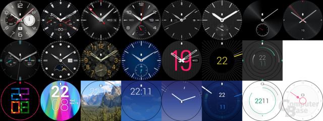 LG G Watch R – Uhren-Skins