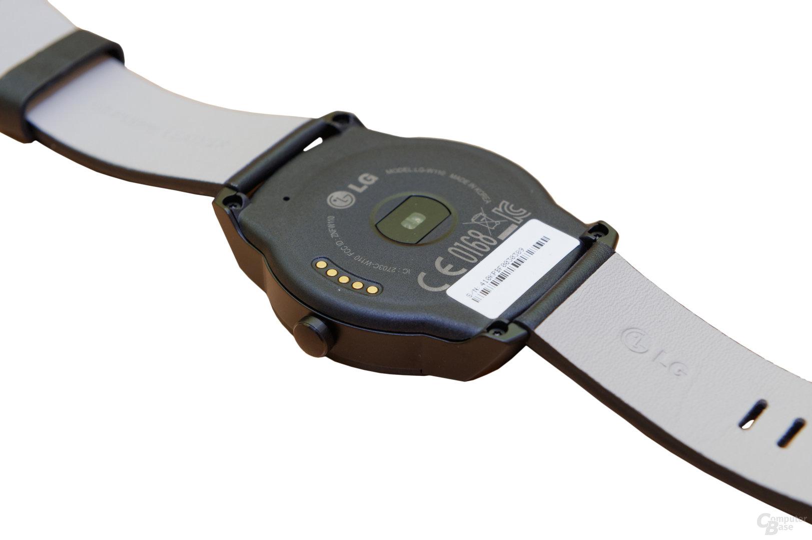 LG G Watch R – Rückseite