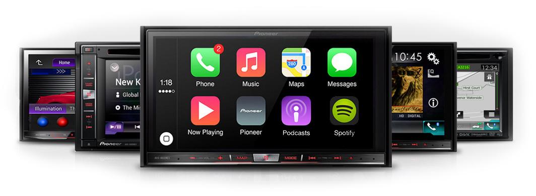 Zu Apple CarPlay kompatible Head Units von Pioneer
