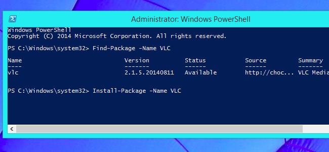 OneGet installiert VLC