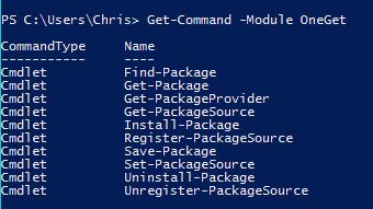 Windows 10: Paketmanager OneGet als Teil von PowerShell