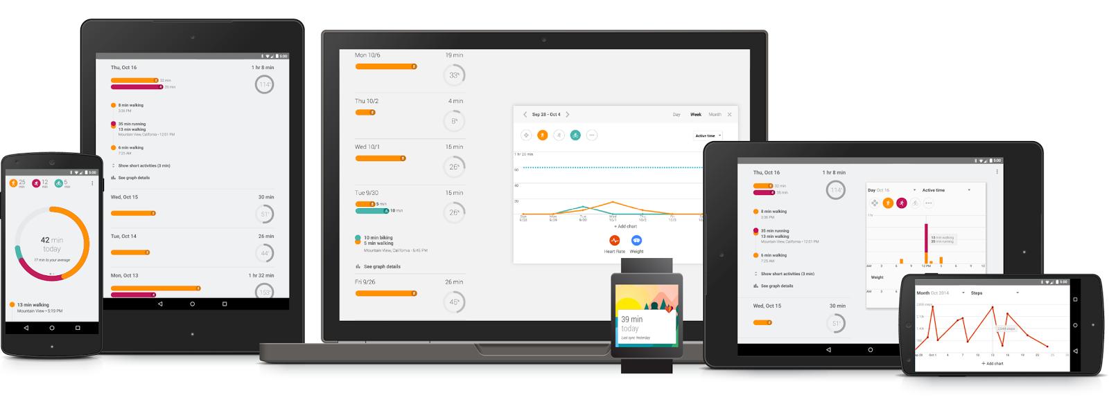 Google Fit kann auf allen Plattformen verwendet werden