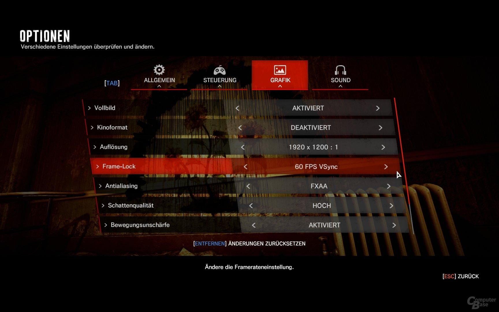 Neue Optionen für Letterbox-Format und FPS-Limitierung