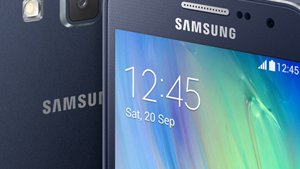 Samsung Galaxy A3 & A5: Dünne Metall-Smartphones mit Selfie-Kamera