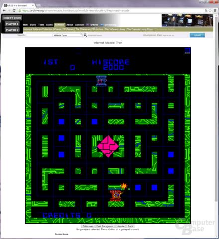 """Automatenspiel """"Tron"""" von 1982 läuft im Browser von 2014"""