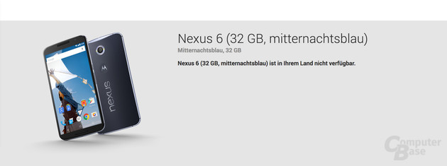 Nexus 6 im Google Play Store