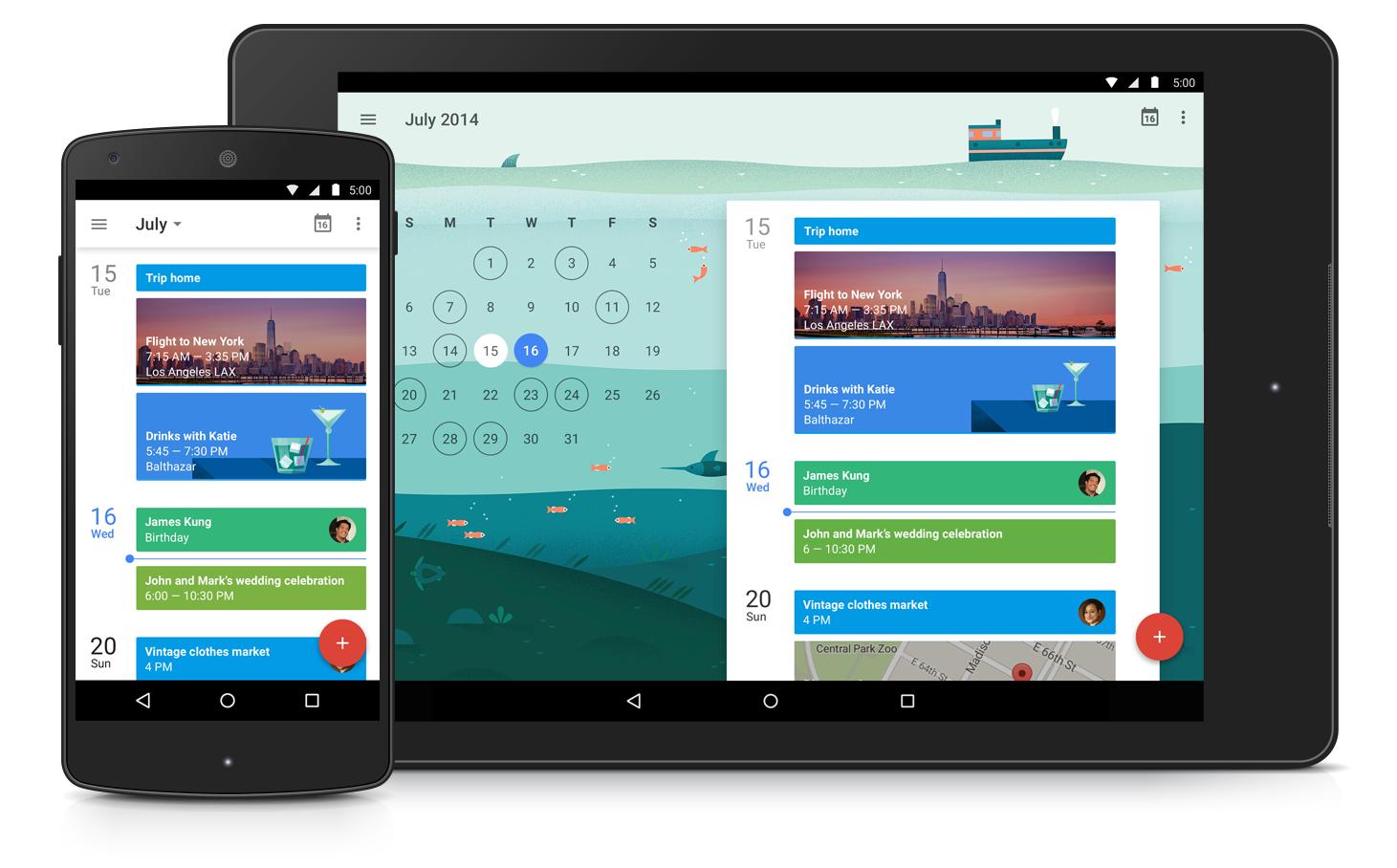 Neue Google Kalender App Schedule View