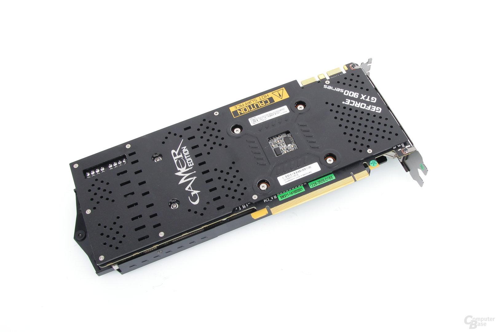 Galax GeForce GTX 980 SOC – Rückseite