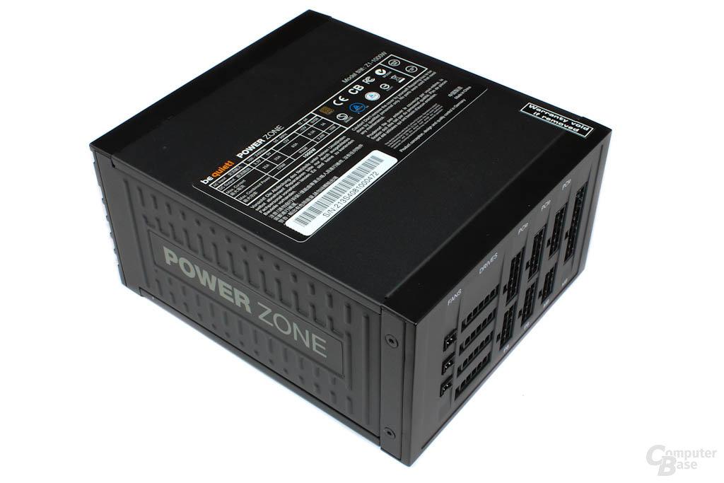 be quiet! Power Zone Z1 1000W – Oberseite mit Typenschild