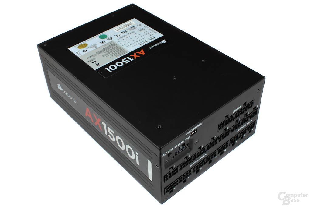 Corsair Professional Series Titanium AX1500i 1500W – Deckel mit Datenblatt