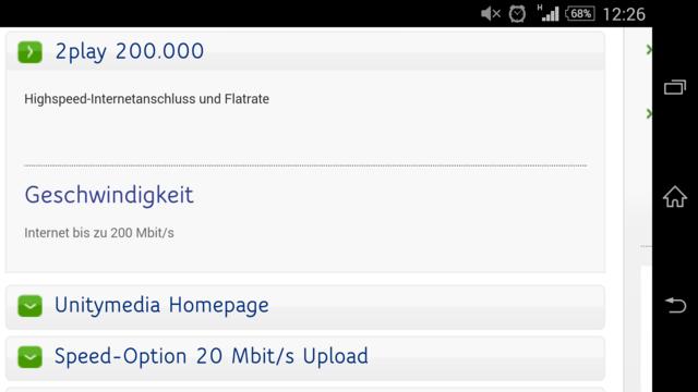 Die Option auf 20 Mbit/s Upload ist vorerst ein Fehler