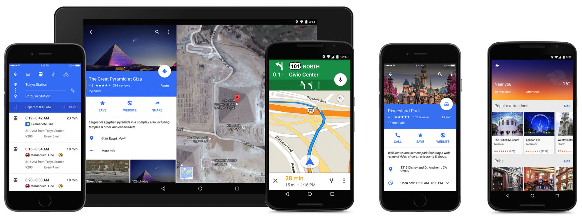 Google Maps mit Material Design