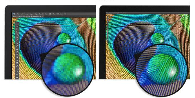 """Links Full HD, rechts """"Ultra HD 5K"""""""