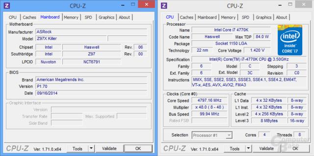 ASRock Z97X Killer beim Auto-Overclocking mit 4,8 GHz