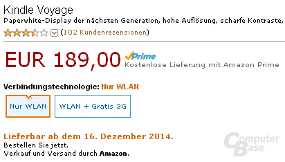 Kindle Voyage again only available from 16 December