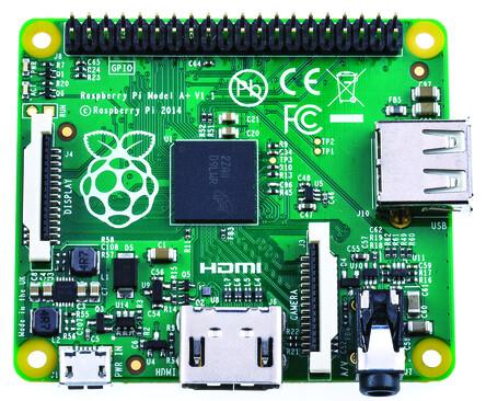 Raspberry Pi A+ – Oberseite
