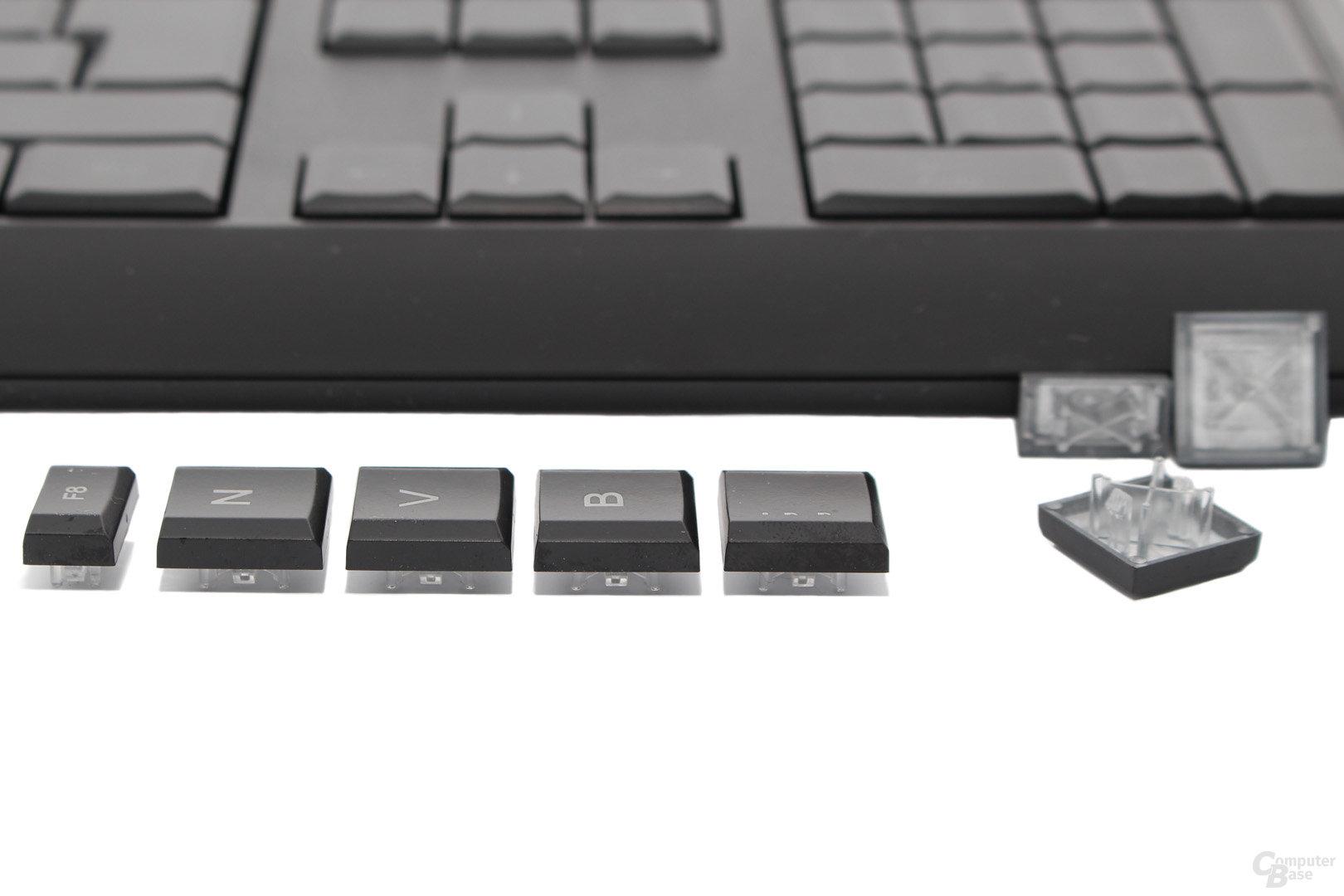 Flache Tastenkappen aus ABS-Kunststoff